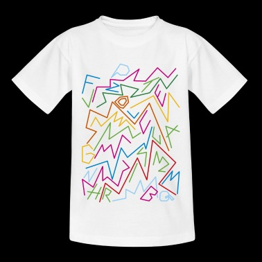multicolor lines - Kids' T-Shirt