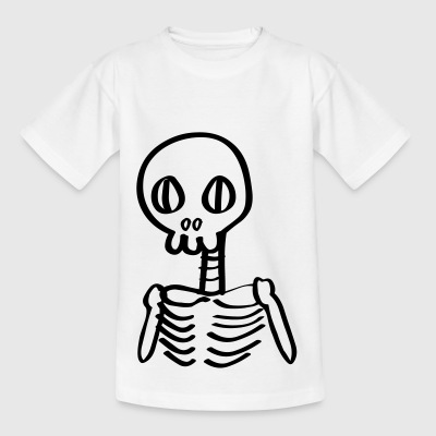 Skeleton skjelett Halloween Comic - T-skjorte for barn