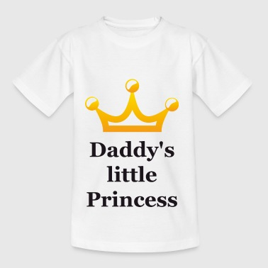 Daddy's little princess black with crown - Kids' T-Shirt