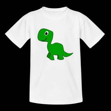 Cute Green Dinosaur - Kids' T-Shirt