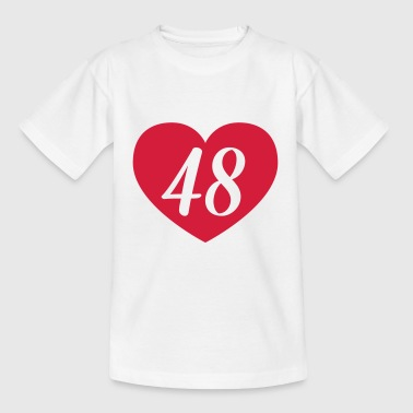 48th birthday heart Shirts - Kids' T-Shirt