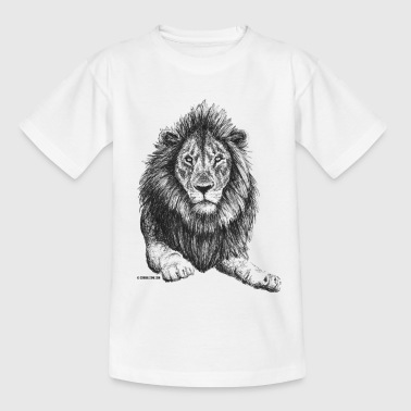 Scribbled Lion - Kinder T-Shirt