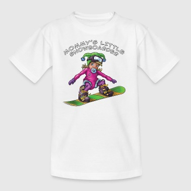 Mommy's little snowboarder - baby snowboarder - Kids' T-Shirt