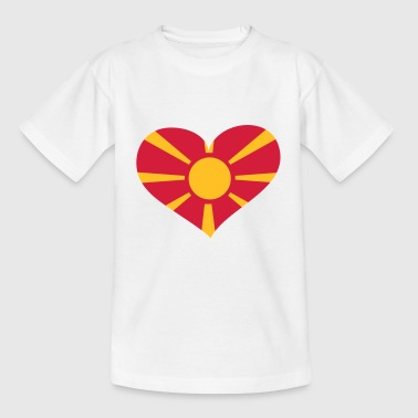 Mazedonien Herz; Heart Macedonia - T-shirt Enfant