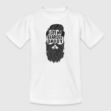love my bearded daddy - Kinder T-Shirt
