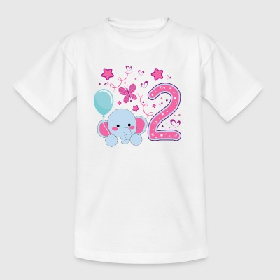 second birthday girl, 2nd birthday gift - Kids' T-Shirt