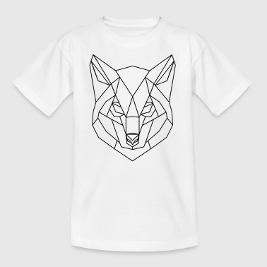 Wolf Low Polygon Lines - Kinder T-Shirt
