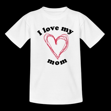 I love my mom - Kids' T-Shirt