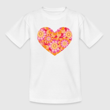 Floral Hearts - Kids' T-Shirt