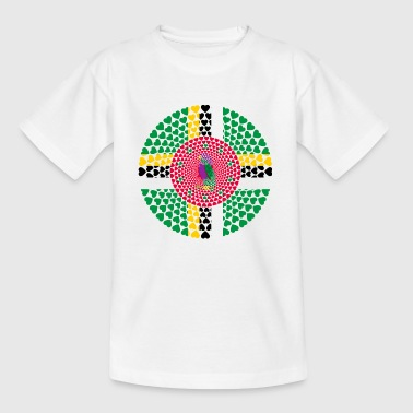 Dominica Caribbean Love Heart Mandala - Kinderen T-shirt
