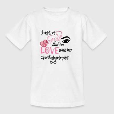 A girl who is in love with her ophthalmologist - Kids' T-Shirt