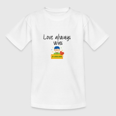 Love always wins - Kinder T-Shirt