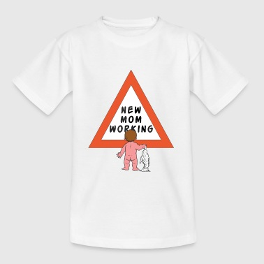New Mom Changing Diapers - Kids' T-Shirt