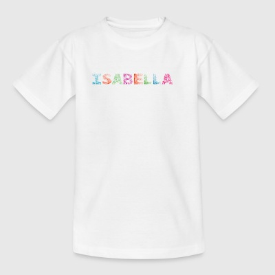 Isabella Letter Name - T-shirt Enfant