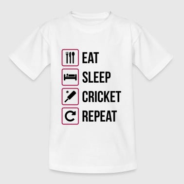 Eat Sleep Cricket Repeat - Kids' T-Shirt