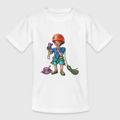 Little baby climber 4 - Kids' T-Shirt