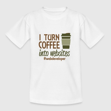 i turn coffee into code - Kinder T-Shirt