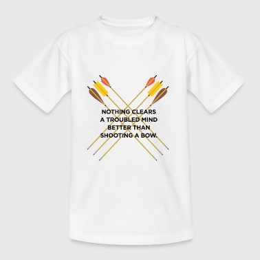 Nothing clears a troubled mind better than archery - Kids' T-Shirt