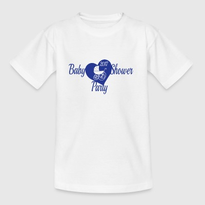 Blaue Babyparty-Party - Kinder T-Shirt