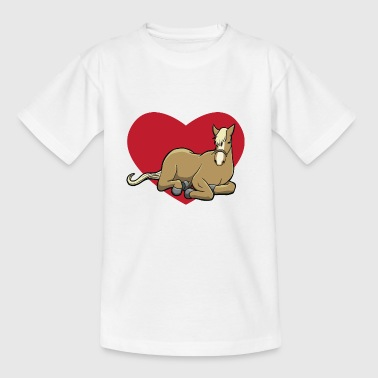 I love horses - horse with heart - Kids' T-Shirt