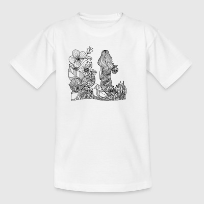 mother nature drawing - Kids' T-Shirt