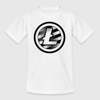 Litecoin Black and White. - Kids' T-Shirt