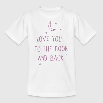 LoveKidsPrint - To the moon and back - Kids' T-Shirt