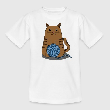 Tender Kitty with Worsted Scroll - Kids' T-Shirt
