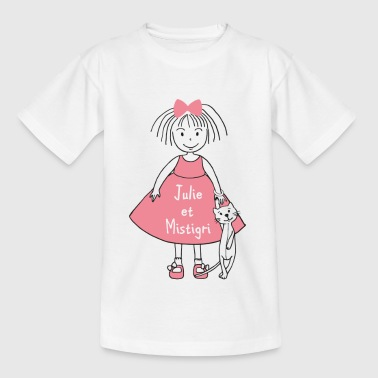 Julie and Mistigri - Kids' T-Shirt