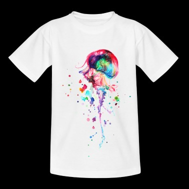 aquarelle méduse coloré - T-shirt Enfant