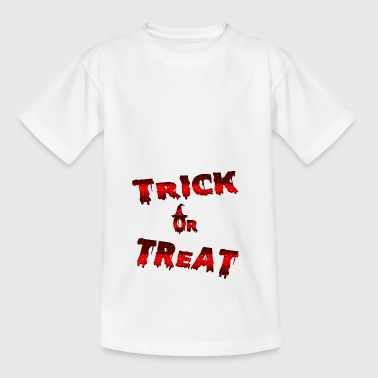 Trick godbit knep eller behandle halloween - T-skjorte for barn