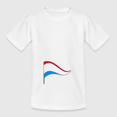 Luxemburg Lux Flagge Fahne Landesfarbe EU Fähnchen - Kinder T-Shirt