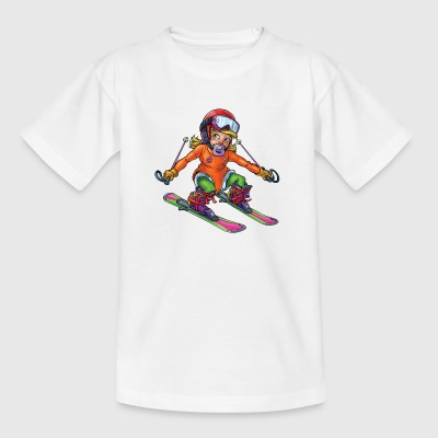 Little baby skier 1 - Kids' T-Shirt