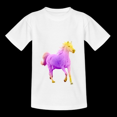 Colorful horse a girl dream - Kids' T-Shirt