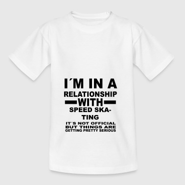 relationship with SPEED SKATING - Kids' T-Shirt