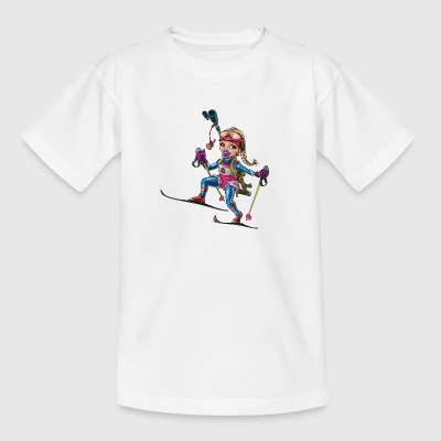 Little baby biathlonist 1 - Kids' T-Shirt