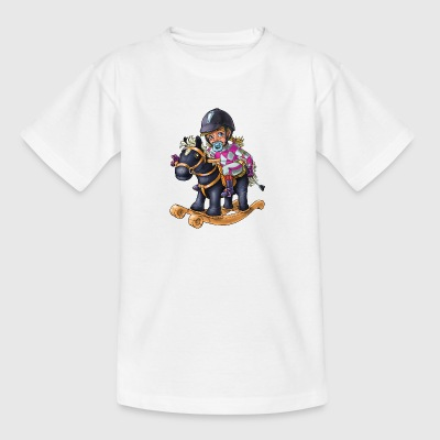 Little baby horse rider 1 - Kids' T-Shirt