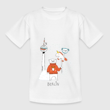 Berliner Bär | Winter am Fernsehturm| littlepublic - Kinder T-Shirt