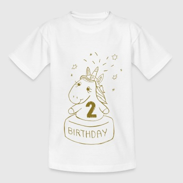Second Birthday Unicorn - Kids' T-Shirt