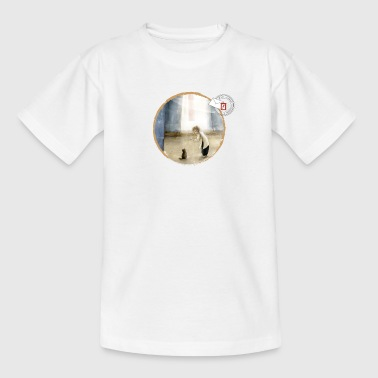 The child and the cat (Series LGV light background) - Kids' T-Shirt