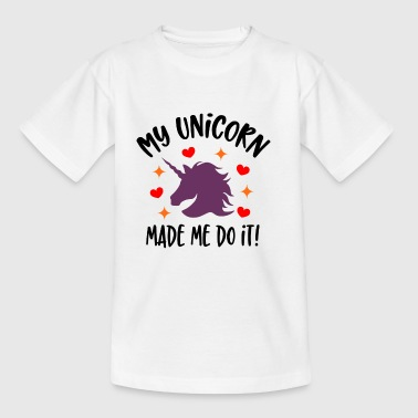 My Unicorn Made Me Do It - Kinderen T-shirt