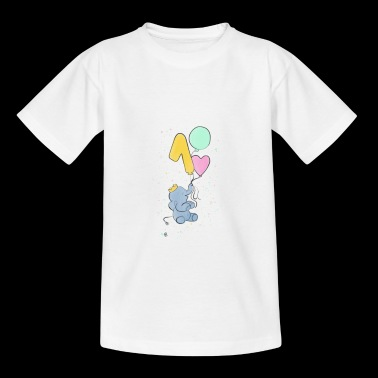 First birthday elephant baby - Kids' T-Shirt