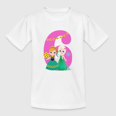 Birthday figure 6 Frozen Elsa girl - Kids' T-Shirt