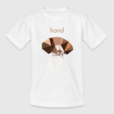 Dog - minimalistisches Design - Kinder T-Shirt