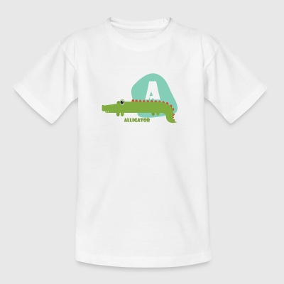 A für Alligator - Kinder T-Shirt