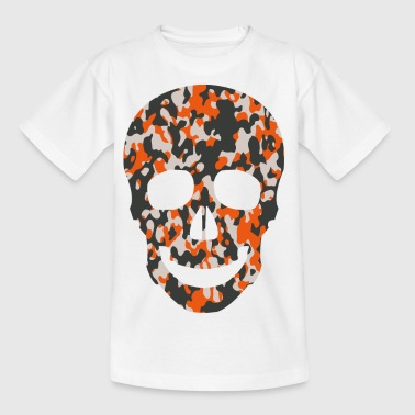 ORANGE CAMO SKULL TEES - T-skjorte for barn