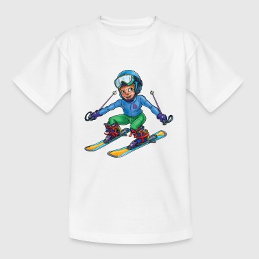Little skier - Kids' T-Shirt