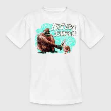 halt den schnabel! - Kinder T-Shirt