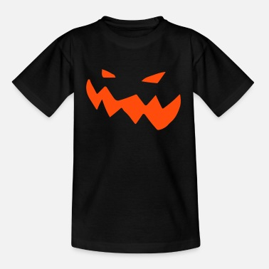 Spooky Halloween Pumpkin Face - Kids' T-Shirt