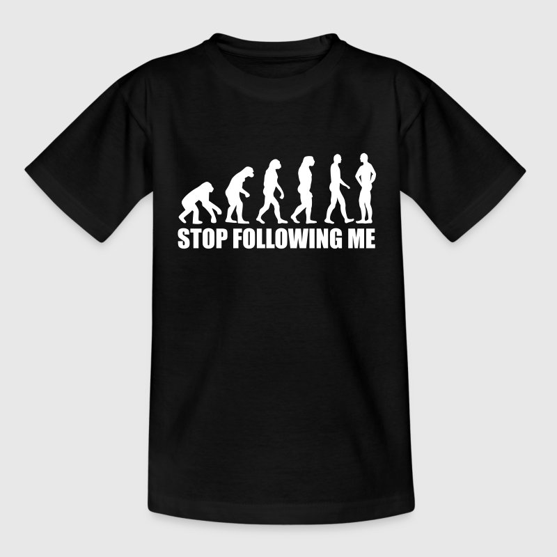 Stop following me Evolution - Kinderen T-shirt